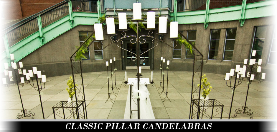 Pillar Floor Candelabras from Koch