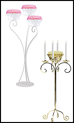 Flower Bowl Candelabras