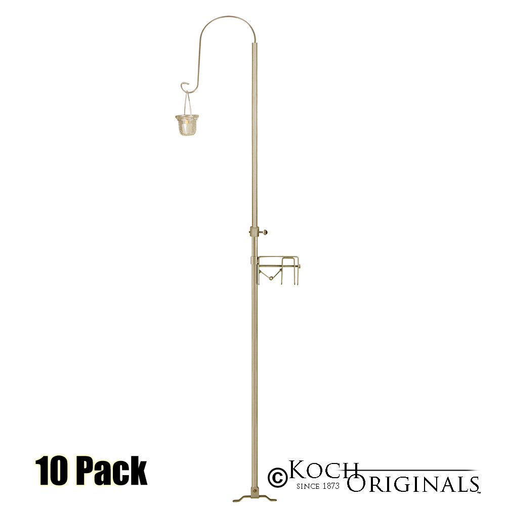 1-Light Quick Clamp Aisle Candelabra - Willow Style - 10 Pack - Gold Leaf