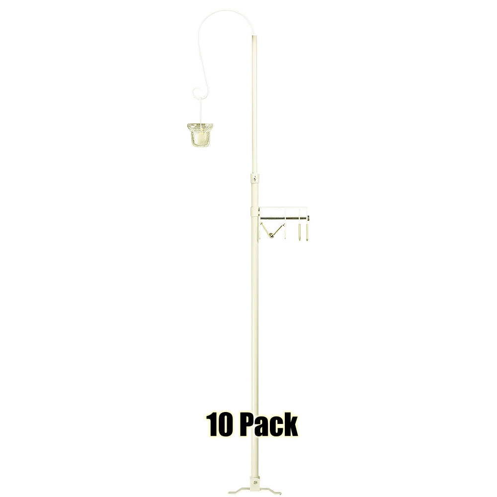 1-Light Quick Clamp Aisle Candelabra - Willow Style - 10 Pack - White