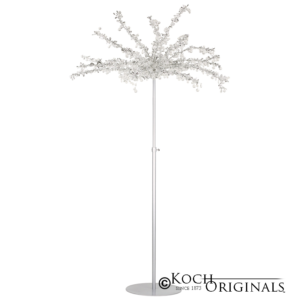 Crystal Tree - Adjustable Height - Frosted Silver w/ Clear Crystals