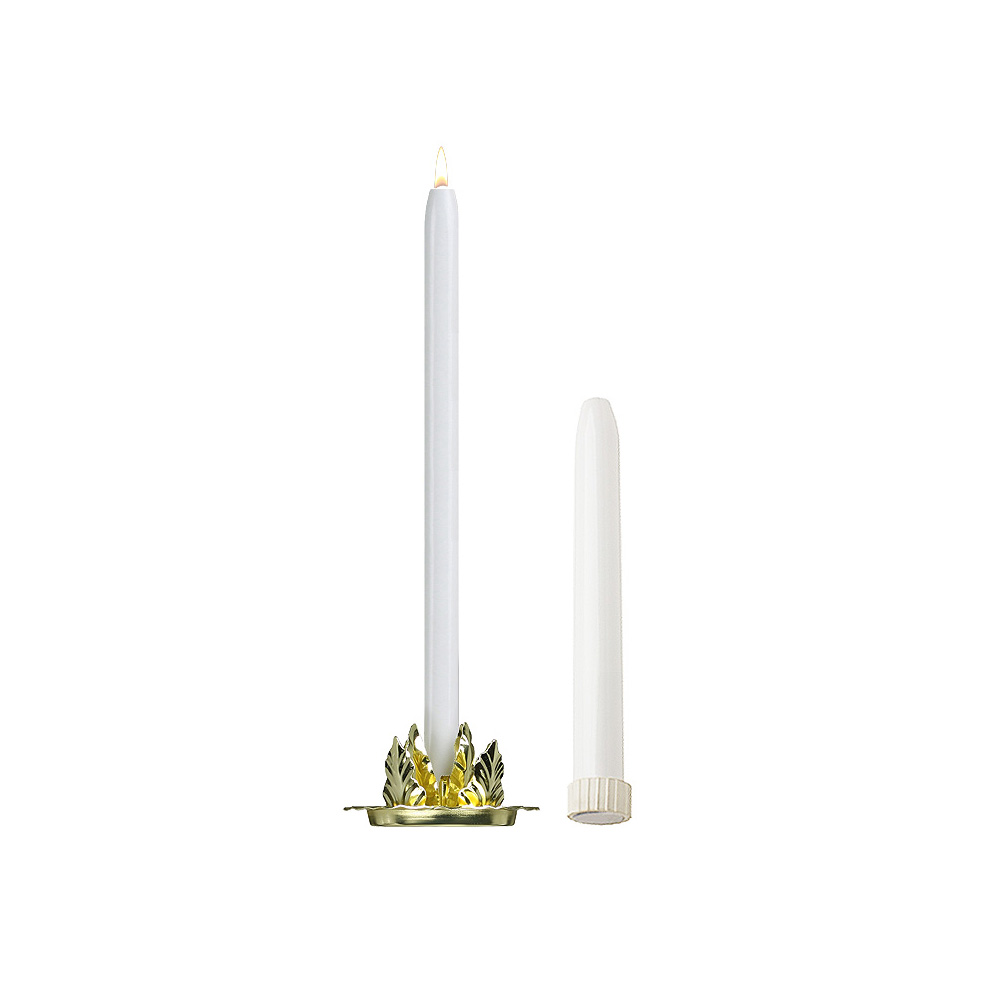8'' Mechanical Candle - Each -  White