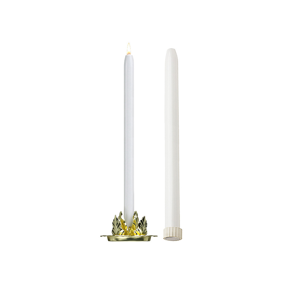 15'' Mechanical Candle - Each -  White