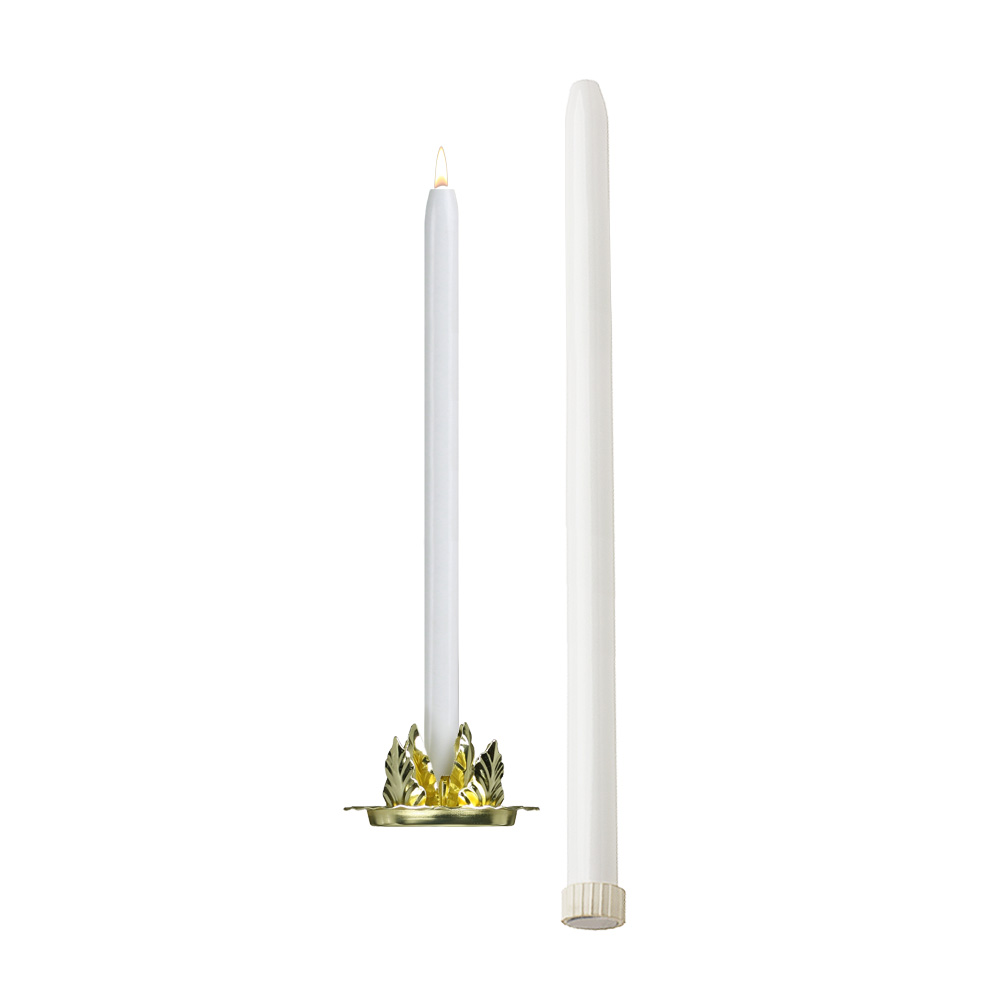 25'' Mechanical Candle - Each -  White