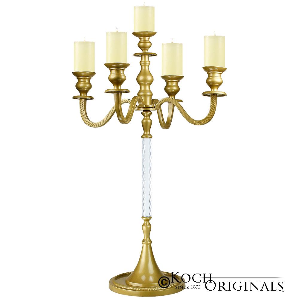 Elegance Tabletop Candelabra - 30\'\' - 5 light - Gold Leaf