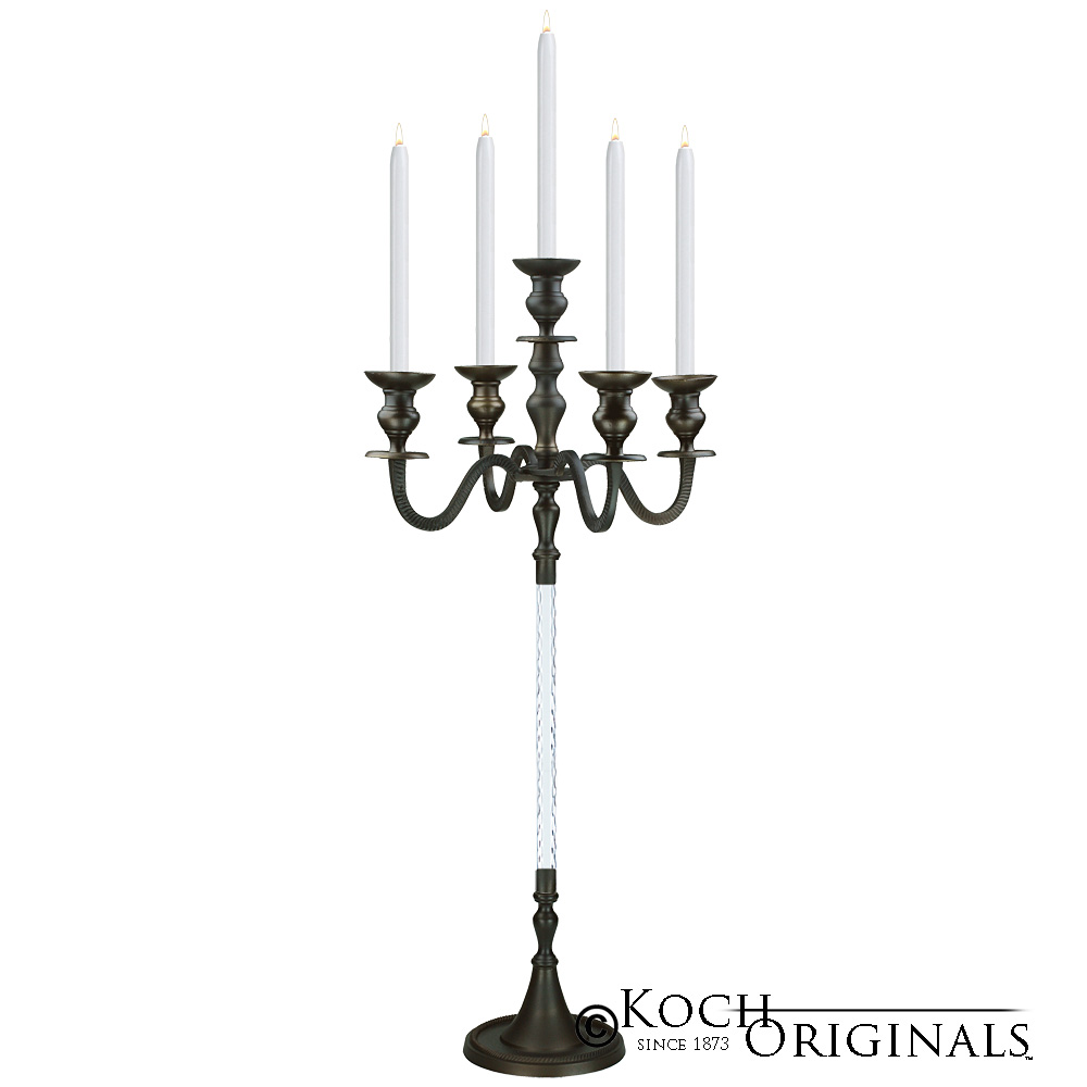Elegance Candelabra - 40'' - 5 light - Onyx Bronze