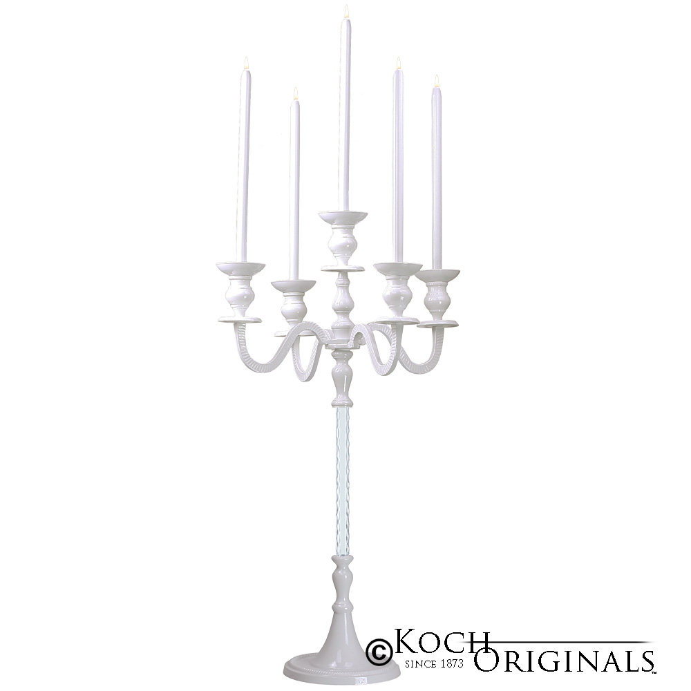 Elegance Candelabra - 40'' - 5 light - White