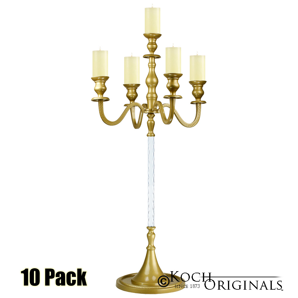 Elegance Candelabra - 40'' - 5 light - 10 Pack - Gold Leaf