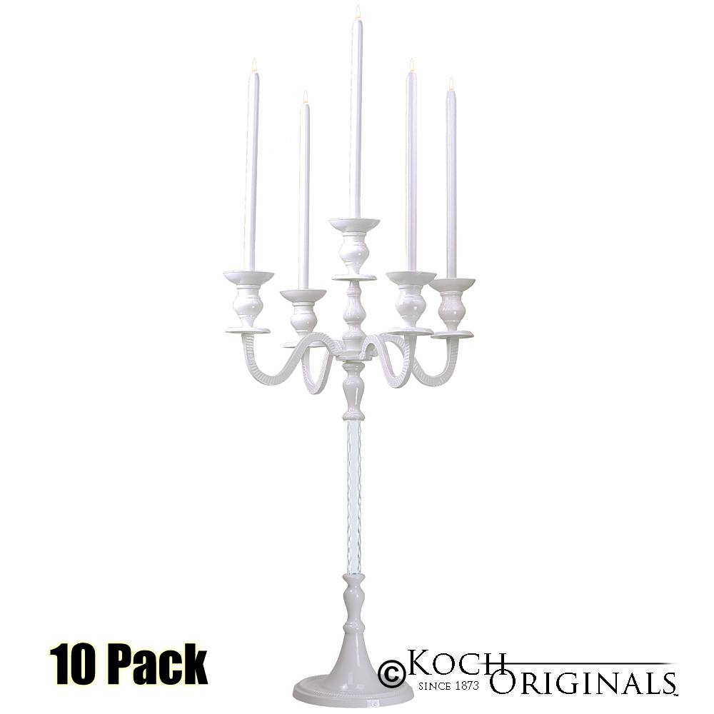 Elegance Candelabra - 40'' - 5 light - 10 Pack - White