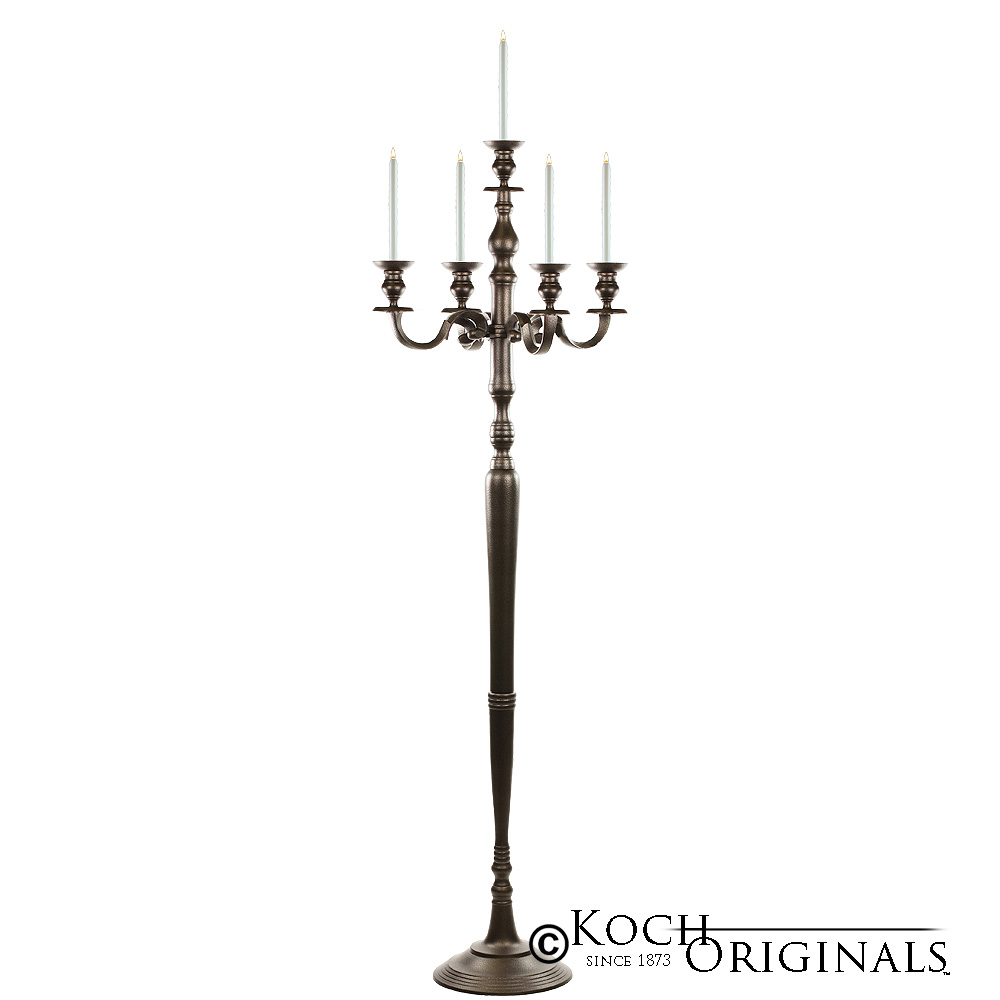 Hierarchy Floor Candelabra - 70'' - 5 light - Onyx Bronze
