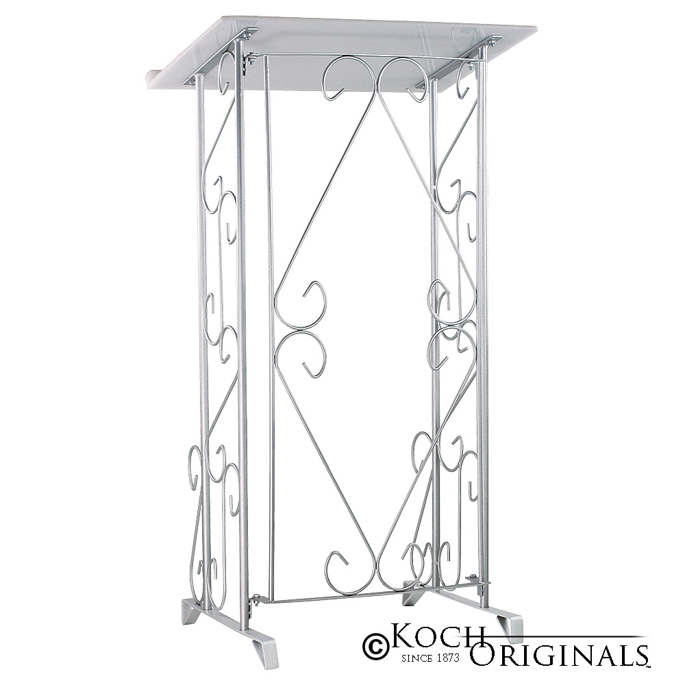 Register Stand - Folding - Frosted Silver