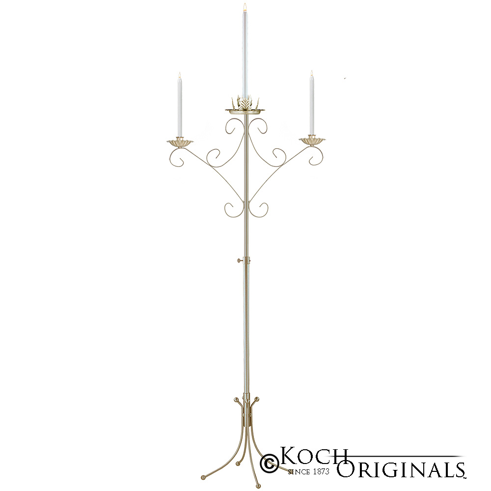 Convertible Unity Candelabra - Gold Leaf