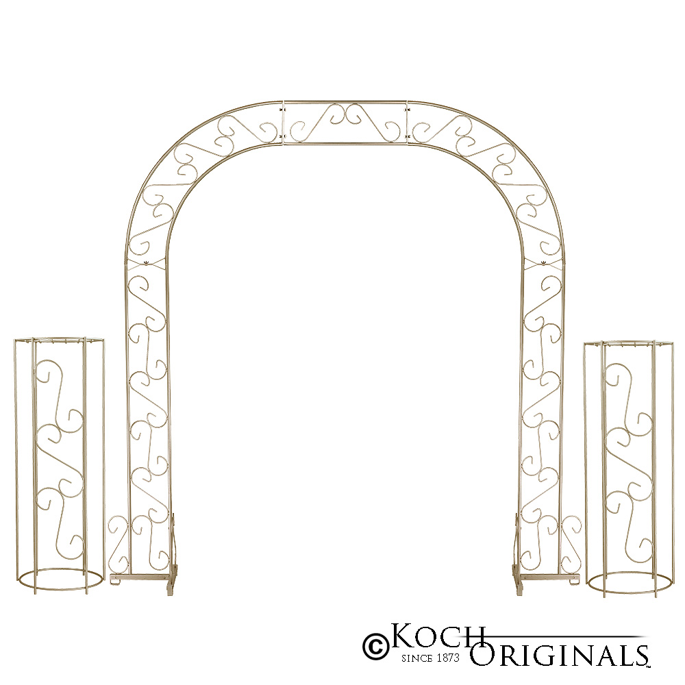 Wedding Arch w/ Two Columns & Extender - 92'' - Gold Leaf