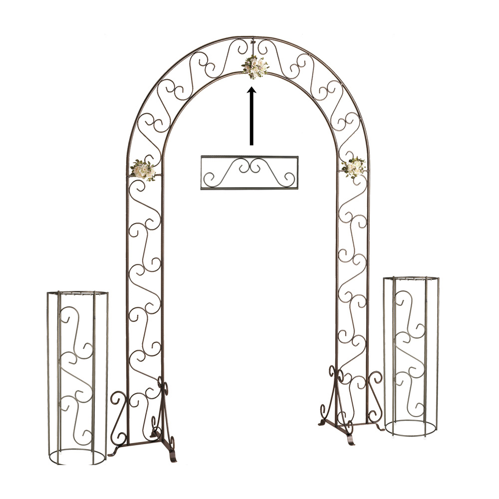 Wedding Arch w/ Two Columns & Extender - 92'' - Onyx Bronze