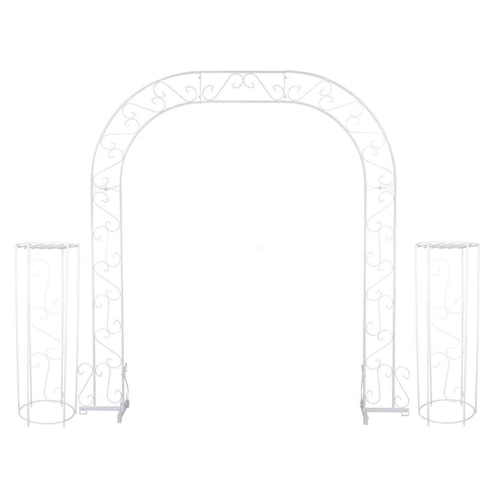 Wedding Arch w/ Two Columns & Extender - 92'' - White