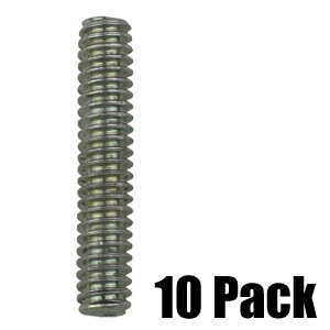 1/4'' Threaded Stud - Zinc - 10 Pack