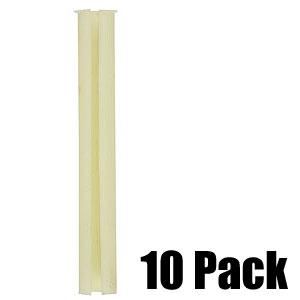 6'' White Plastic Bushing for Adjusting Rod - 10 Pack