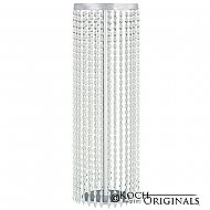 Tabletop Crystal Column - 25'' Tall - Frosted Silver w/ Clear Crystals