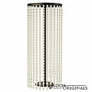 Tabletop Crystal Column - 25'' Tall - Onyx Bronze w/ Clear Crystals