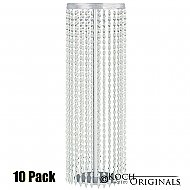 Tabletop Crystal Column - 25'' Tall - 10 Pack - Frosted Silver w/ Clear Crystals