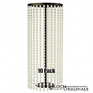 Tabletop Crystal Column - 25'' Tall - 10 Pack - Onyx Bronze w/ Clear Crystals