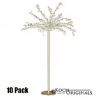 Tabletop Crystal Tree - 32'' Tall - 10 Pack - Gold Leaf w/ Clear Crystals