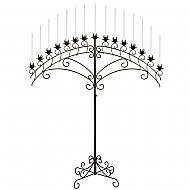 15-Light Fan Floor Candelabra - Onyx Bronze