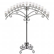 15-Light Fan Floor Candelabra - Teardrop Style - Onyx Bronze