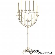 'Quinceanera'' 15 or 16 Light Heart Candelabra - Gold Leaf