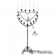 'Quinceanera'' 15 or 16 Light Heart Candelabra - Onyx Bronze