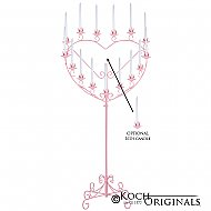 'Quinceanera'' 15 or 16 Light Heart Candelabra - Pink