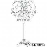 Large Willow Tree Candelabra w/ 24 lanterns - Frosted Silver