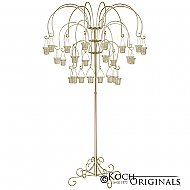 Large Willow Tree Candelabra w/ 24 lanterns - Gold Leaf