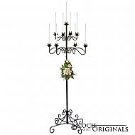 9-Light Tree Floor Candelabra - Onyx Bronze