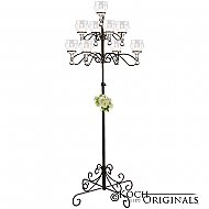 9-Light Tree Floor Candelabra - Teardrop Style - Onyx Bronze