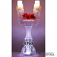 Illuminate Ivy Tabletop Candelabra - 10 Pack - 30'' Tall, 4 Light w/ Flower Plate