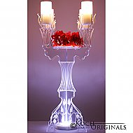 Illuminate Ivy Tabletop Candelabra - 30'' Tall, 4 Light w/ Flower Plate