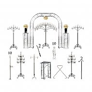 Complete Wedding Package - Teardrop Candelabras