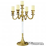 Elegance Tabletop Candelabra - 30'' - 5 light - Gold Leaf