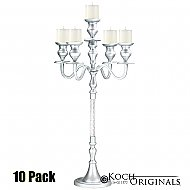 Elegance Tabletop Candelabra - 30'' - 5 light - 10 Pack - Frosted Silver