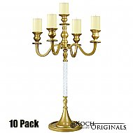 Elegance Tabletop Candelabra - 30'' - 5 light - 10 Pack - Gold Leaf