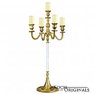 Elegance Candelabra - 40'' - 5 light - Gold Leaf