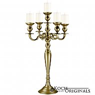 Hierarchy Tabletop Candelabra - 30'' - 5 light - Gold Leaf