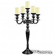 Hierarchy Tabletop Candelabra - 30'' - 5 light - Onyx Bronze