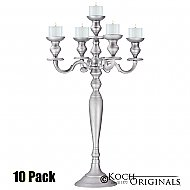 Hierarchy Tabletop Candelabra - 30'' - 5 light - 10 Pack - Frosted Silver