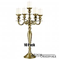 Hierarchy Tabletop Candelabra - 30'' - 5 light - 10 Pack - Gold Leaf