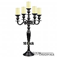 Hierarchy Tabletop Candelabra - 30'' - 5 light - 10 Pack - Onyx Bronze