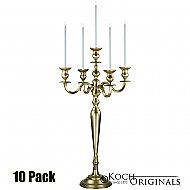 Hierarchy Candelabra - 40'' - 5 light - 10 Pack - Gold Leaf