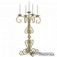 36'' Tall Old World Tabletop Candelabra - Gold Leaf