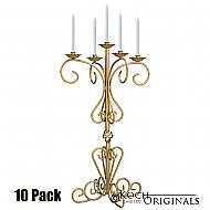 36'' Tall Old World Tabletop Candelabra - 10 Pack - Gold Leaf